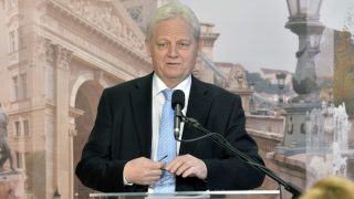 Budapest, 2016. január 22. Tarlós István fõpolgármester sajtótájékoztatót tart a Városházán 2016. január 22-én. MTI Fotó: Máthé Zoltán