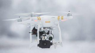 Orosháza, 2017. január 21. A Körös Mentõcsoport új, Flir Vue hõkamerával felszerelt DJI Phanton 3 Professional típusú drónja az Orosháza közelében tartott bemutatón 2017. január 21-én. A drón többek között a katasztrófa sújtotta területek légi felderítésében, eltûnt személyek keresésében segíti a mentõcsoport munkáját. MTI Fotó: Rosta Tibor