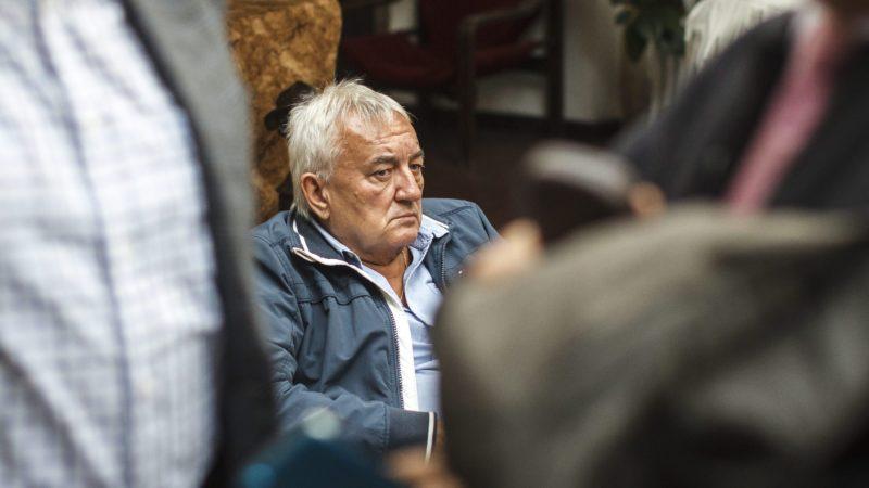 Budapest, 2015. október 3. Havas Henrik újságíró a Kerekasztal a Részvételi Demokráciáért Egyesület (KARD) fórumán, a budapesti Selyemgombolyító Rendezvényházban 2015. október 3-án. MTI Fotó: Szigetváry Zsolt