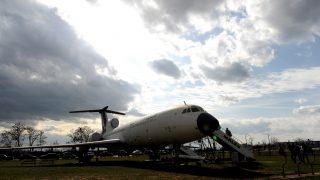 Budapest, 2012. március 30. Egy TU-154-es utasszállító repülõgép a Ferihegyi Repülõgép Emlékparkban, ahol nyílt napot rendeztek a Malév (jogelõdje, a Maszovlet) megalakításának 66. évfordulója alkalmából. A légitársaság 66 évnyi, csaknem folyamatos mûködés után, 2012. február 3-án leállt. MTI Fotó: Földi Imre