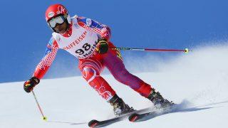 Haitian athlete Celine Marti in action at the Alpine World Ski Championships in St. Moritz, Switzerland, 16 February 2017. Photo: Michael Kappeler/dpa