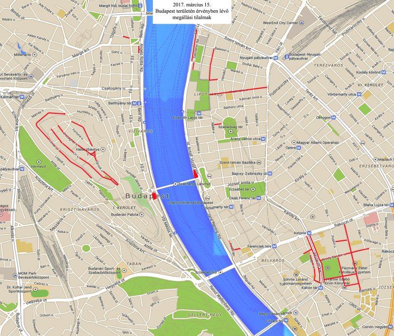 budapest alkotmány utca térkép Március 15 ei lezárások: itt a térkép és a lista budapest alkotmány utca térkép