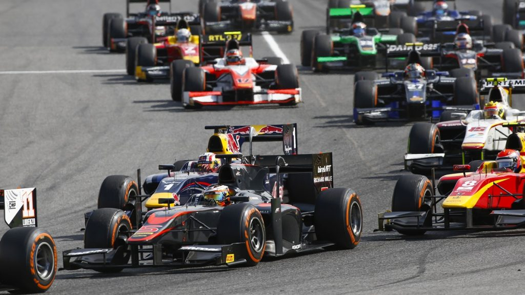 Start, Stoffel Vandoorne, ART Grand Prix, during the 2015 GP2 Series, from May 8 to 9th 2015 at Barcelona, Spain. Photo Florent Gooden / DPPI