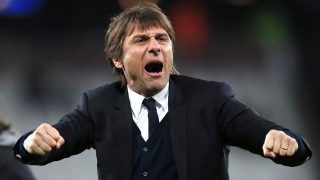 Antonio Conte manager of Chelsea acknowledges the fans during the English championship Premier League football match between West Ham United and Chelsea on March 6, 2017 played at The London Stadium in London, England - Photo Michael Zemanek / Backpage Images / DPPI