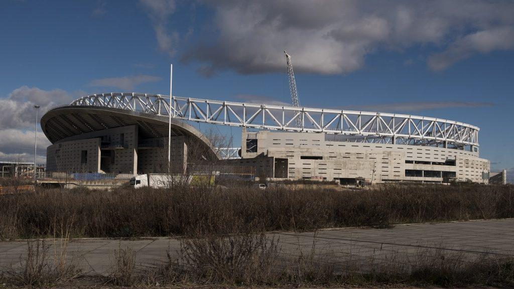 Construction of Wanda Metropolitano  Stadium in Madrid continues, work should end for the next season 2017 - 2018 for Atletico de Madrid team. Madrid Spain January 16, 2017 (Photo by Oscar Gonzalez/NurPhoto)