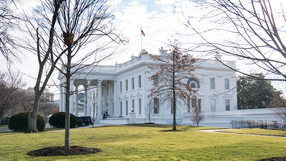 On Wednesday, January 18, a view of the White House from the North Lawn. (Photo by Cheriss May/NurPhoto)