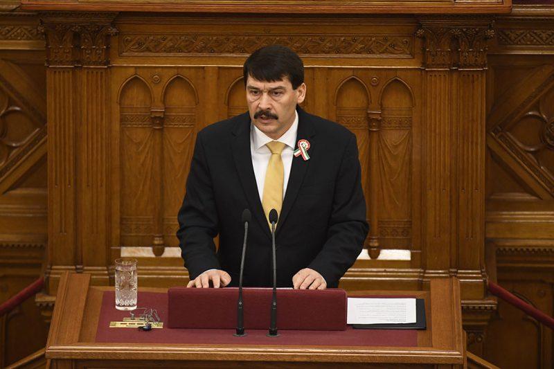 Budapest, 2017. március 13.Áder János köztársasági elnök beszél az Országgyűlés plenáris ülésén 2017. március 13-án. Ezen a napon államfőt választanak a képviselők.MTI Fotó: Koszticsák Szilárd