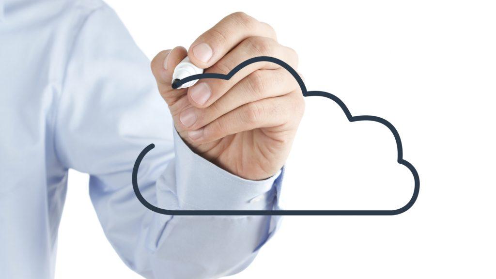 Drawing cloud symbol