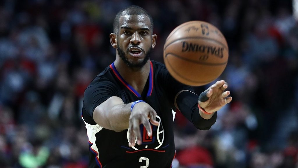 CHICAGO, USA - MARCH 05: Chris Paul (3) of Los Angeles Clippers in action during the NBA match between Chicago Bulls and Los Angeles Clippers at the United Center in Chicago, Illinois, United States on March 05, 2017. Bilgin S. Sasmaz / Anadolu Agency