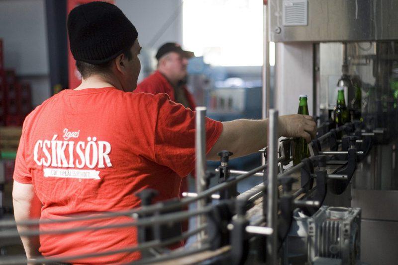Csíkszentsimon, 2015. március 17.Az Igazi csíki sör gyártósora a Lixid Project Kft. csíkszentsimoni sörgyárában 2015. március 17-én.MTI Fotó: Haáz Sándor