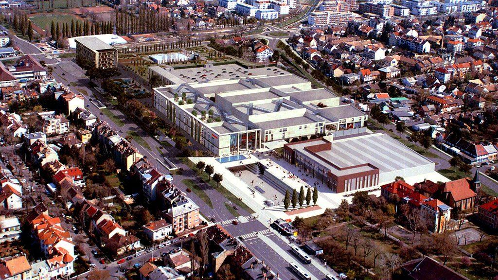 Budapest, 2009. december 9.Az új létesítmény látványterve. A zuglói önkormányzat döntése értelmében 2009. december 31-vel véglegesen bezár a Bosnyák téren működő egynapos termelői piac, mivel MUNDO néven beváráslóközpontot terveznek építeni. Az új létesítmény látványterve már elkészült, az építkezés kezdetéről később dönt az önkormányzat.MTI Fotó: reprodukció