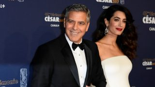 PARIS, FRANCE - FEBRUARY 24: George Clooney and Amal Clooney arrive at the Cesar Film Awards 2017 at Salle Pleyel on February 24, 2017 in Paris, France. (Photo by François Pauletto/Corbis via Getty Images)
