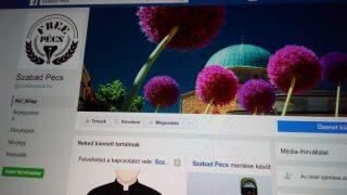 A Szabad Pécs Facebook-oldala
