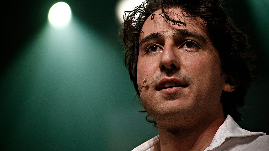 Jesse Klaver, the party leader of the GroenLinks during election night in Amsterdam, Netherlands on Mar. 16, 2017