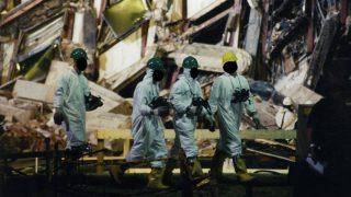 Arlington, 2017. március 31.A Szövetségi Nyomozó Iroda, az FBI által 2017. március 31-én közzétett, korábban még nem közölt, dátumozatlan kép FBI-alkalmazottakról az amerikai védelmi minisztérium, a Pentagon megrongálódott épületszárnyában, Arlingtonban a 2001. szeptember 11-i repülőgépes terrortámadás után. (MTI/EPA/FBI)