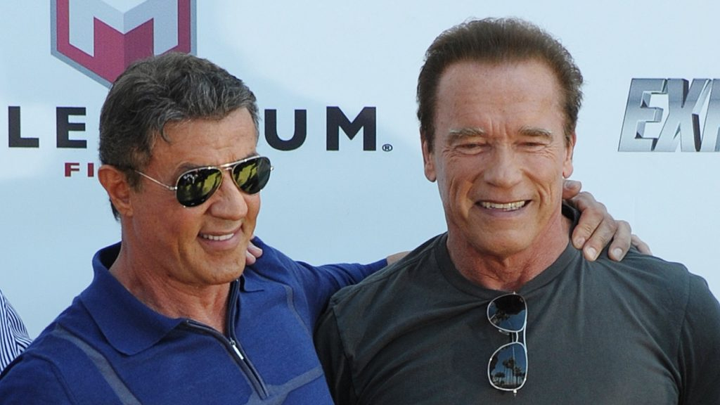 The Expendables 3 Photocall  Featuring: Arnold Schwarzenegger,Sylvester Stallone Where: Cannes, France When: 18 May 2014 Credit: WENN.com