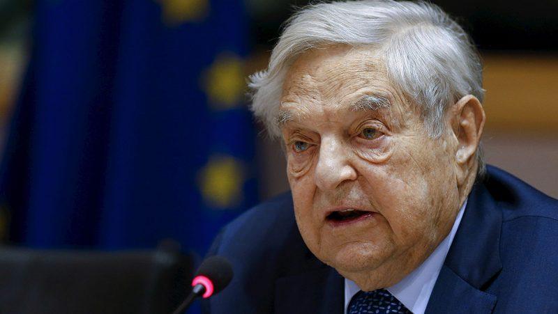 Brüsszel, 2016. június 30.Az Európai Parlament által közreadott képen Soros György magyar származású amerikai üzletember, a New York-i Soros Fund Management befektetési társaság elnöke az EP fejlesztési, költségvetési, bel- és igazságügyi bizottságainak közös konferenciáján Brüsszelben 2016. június 30-án. (MTI/Európai Parlament/Philippe Buissin)