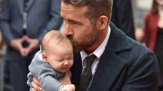 HOLLYWOOD, CA - DECEMBER 15:  Actor Ryan Reynolds and daughter Ines Reynolds attend the ceremony honoring Ryan Reynolds with a Star on the Hollywood Walk of Fame on December 15, 2016 in Hollywood, California.  (Photo by Axelle/Bauer-Griffin/FilmMagic)