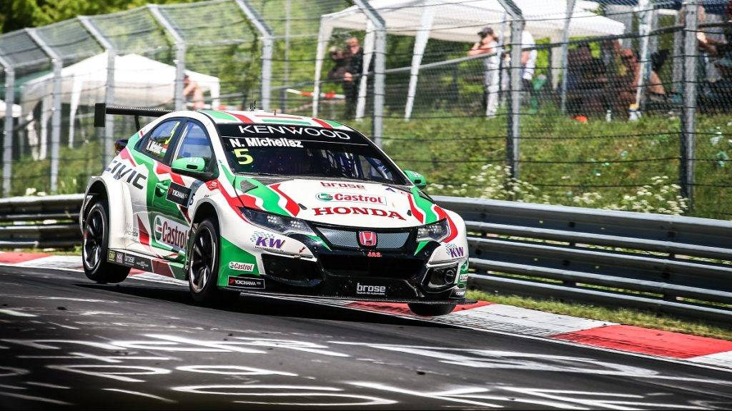 05 MICHELISZ Norbert (hun), Honda Civic team Castrol Honda WTC, action during the 2017 ETCC European Touring Car Championship race at Nurburgring, Germany from May 26 to 28 - Photo Antonin Vincent / DPPI