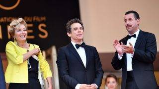 CANNES, FRANCE - MAY 21: US actor Adam Sandler (R), US actor Ben Ben Stiller (C) and British actress Emma Thompson (L) arrive for the film 'The Meyerowitz Stories' in competition at the 70th annual Cannes Film Festival in Cannes, France on May 21, 2017.  Mustafa Yalcin / Anadolu Agency