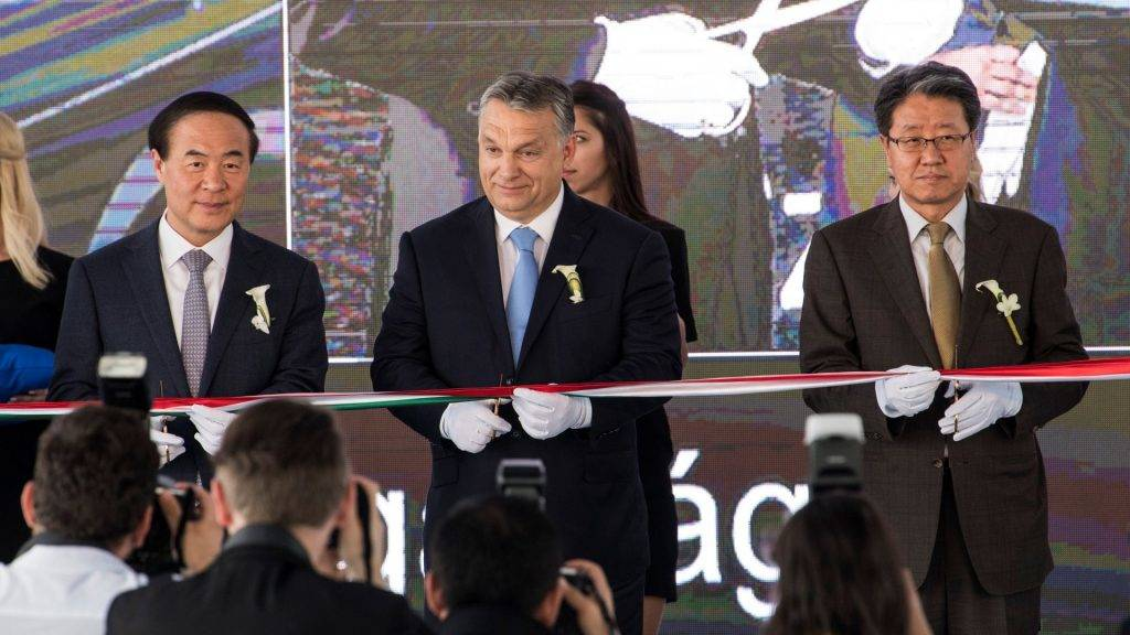 A Samsung új gödi gyárának nyitóünnepsége