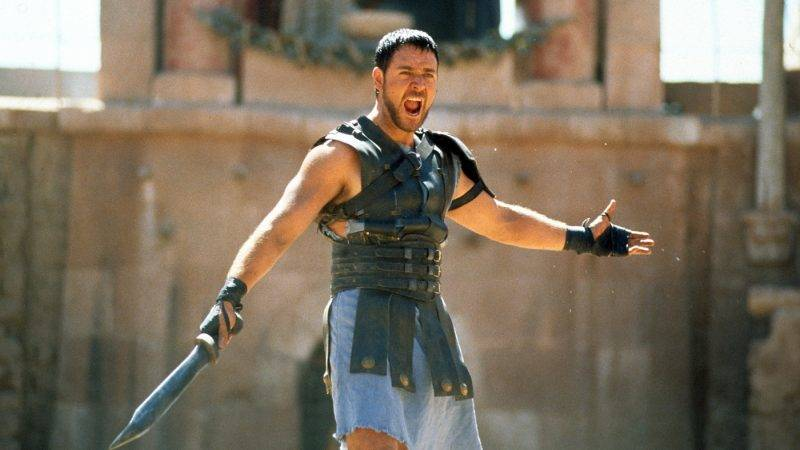 """Historian Mary Beard says real gladiator competitions were probably not as brutal as the film <em>Gladiator</em> (starring Russell Crowe) would have us believe. Still, she says, """"I loved <em>Gladiator</em> and I thought its depiction of gladiatorial combat, although it was an aggrandizing picture, was cleverly and expertly done"""