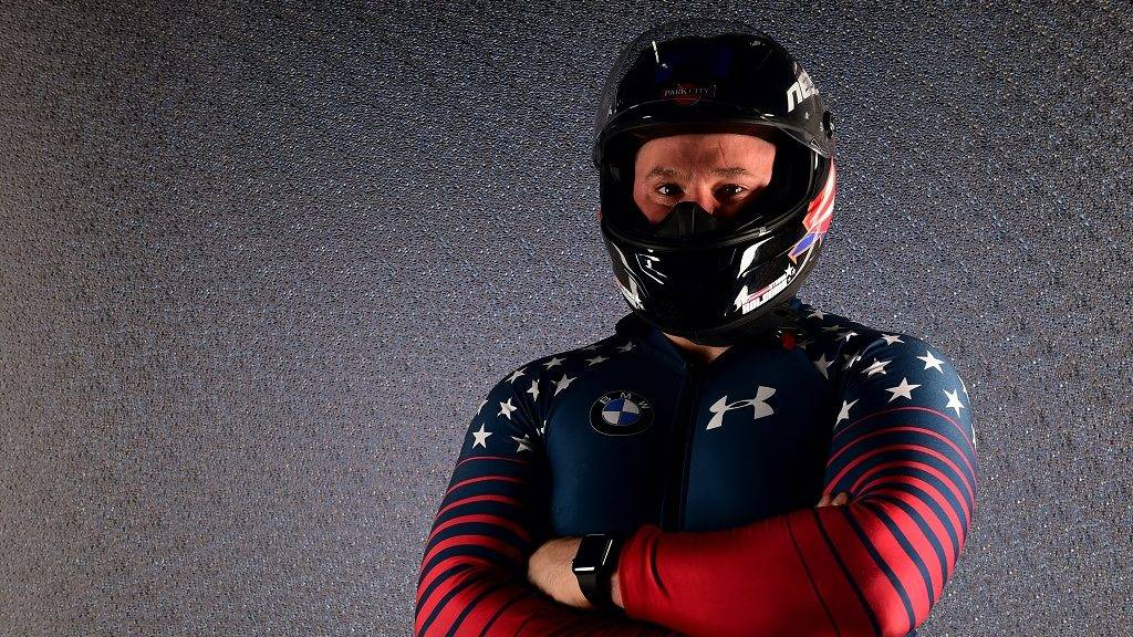 WEST HOLLYWOOD, CA - APRIL 27: Bobsledder Steven Holcomb poses for a portrait during the Team USA PyeongChang 2018 Winter Olympics portraits on April 27, 2017 in West Hollywood, California.   Harry How/Getty Images/AFP