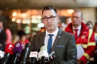Budapest, 2017. május 10.Csató Gábor, az Országos Mentőszolgálat főigazgatója sajtótájékoztatót tart a mentők napja alkalmából rendezett eseményen a fővárosi KIOSK étteremben 2017. május 10-én.MTI Fotó: Koszticsák Szilárd