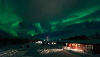 Sweden, Norrbotten, Kiruna, Northernlight in Abisko sky