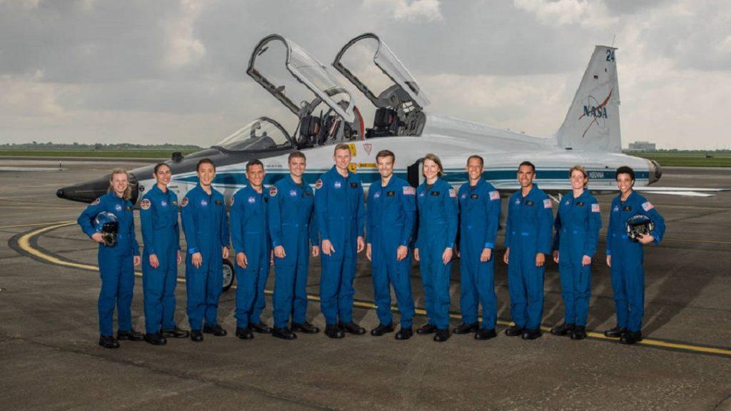 2017 NASA Astronaut Candidates.  Photo Date: June 6, 2017.  Location: Ellington Field - Hangar 276, Tarmac.  Photographer: Robert Markowitz