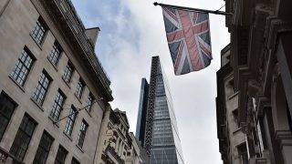 LONDON, UNITED KINGDOM - APRIL 26: A general view of the Cheesegrater, 122 Leadenhall Street, or the Leadenhall Building seen from Cornhill on April 26, 2017 in London, England. (Photo by John Keeble/Getty Images)