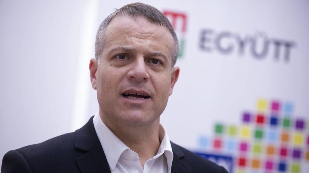 Budapest, 2017. február 5. Juhász Péter, az Együtt új elnöke a párt küldöttgyûlése után tartott sajtótájékoztatón 2017. február 5-én. MTI Fotó: Kallos Bea