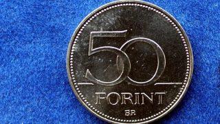 Budapest, 2008. január 31. Az 50 forintos hátlapja (b) és elõlapja. Az év érméje lett az 1956-os forradalom 50. évfordulójára kibocsátott 50 forintos érme az amerikai World Coin News magazin által indított  internetes szavazás szerint. A pályázatra 40 országból több száz nevezés érkezett, tíz kategóriában. A pályázati anyagok elbírálását nemzetközi zsûri végezte, így választották ki a szakmai kategóriagyõzteseket. A 2006-os jubileumi 50 forintos elõlapja Kósa István alkotása, a hátoldal Bartos István munkája. A díjat február 2-án adják át Berlinben. MTI Fotó: Balaton József