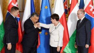A V4-ek kormányfői csúcstalálkozója Varsóban