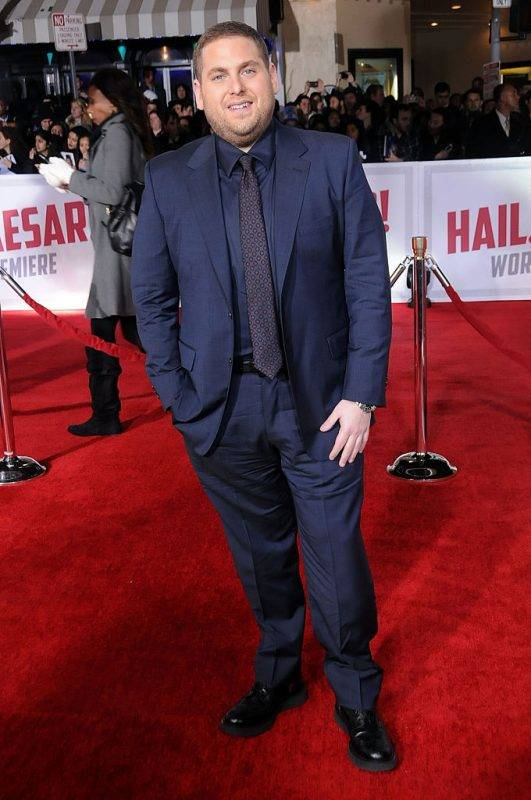 WESTWOOD, CA - FEBRUARY 01:  Actor Jonah Hill attends the Premiere of Universal Pictures' 'Hail, Caesar!' at the Regency Village Theatre on February 1, 2015 in Westwood, California.  (Photo by Barry King/Getty Images)