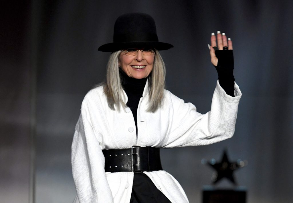 HOLLYWOOD, CA - JUNE 08:  Honoree Diane Keaton accepts the AFI Life Achievement Award onstage during American Film Institute's 45th Life Achievement Award Gala Tribute to Diane Keaton at Dolby Theatre on June 8, 2017 in Hollywood, California. 26658_007  (Photo by Kevin Winter/Getty Images)