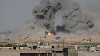 SYRIA, Raqqa: The Kurdish Democratic Forces launch an offensive to capture the jihadist group Islamic State's Syrian stronghold of Raqqa as seen on June 6, 2017.  - Guillaume Briquet