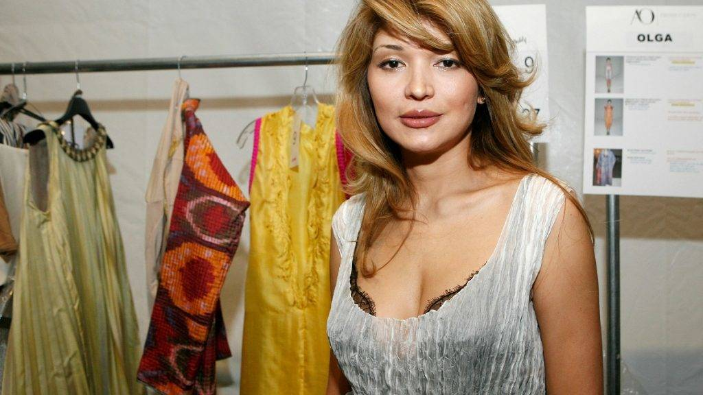NEW YORK - SEPTEMBER 10: Designer Gulnara Karimova poses backstage at the Guli Collections Spring 2011 fashion show during Mercedes-Benz Fashion Week at The Studio at Lincoln Center on September 10, 2010 in New York City.   Amy Sussman/Getty Images for Guli Collections/AFP