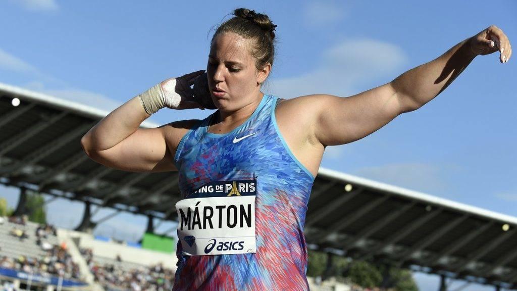 Anita Marton (HUN) competes in Shot Put Women during the Meeting de Paris 2017, at Charlety Stadium, in Paris, France, on July 1, 2017 - Photo Jean-Marie Hervio / KMSP / DPPI