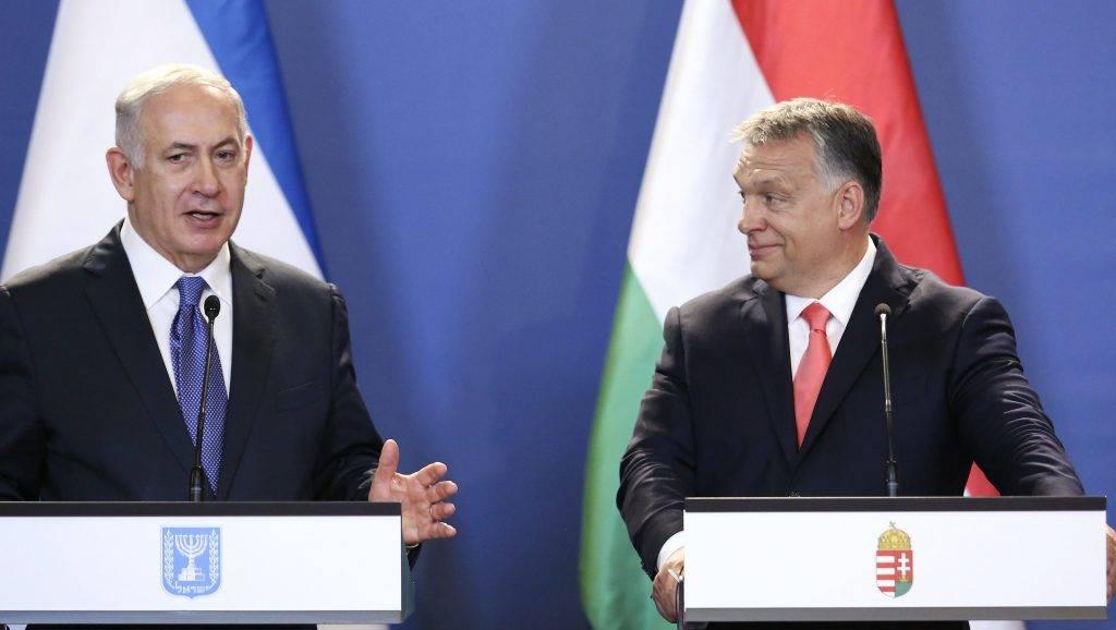 Budapest, 2017. július 18. Benjámin Netanjahu izraeli (b) és Orbán Viktor magyar miniszterelnök sajtótájékoztatót tart Budapesten, az Országházban 2017. július 18-án. MTI Fotó: Mohai Balázs