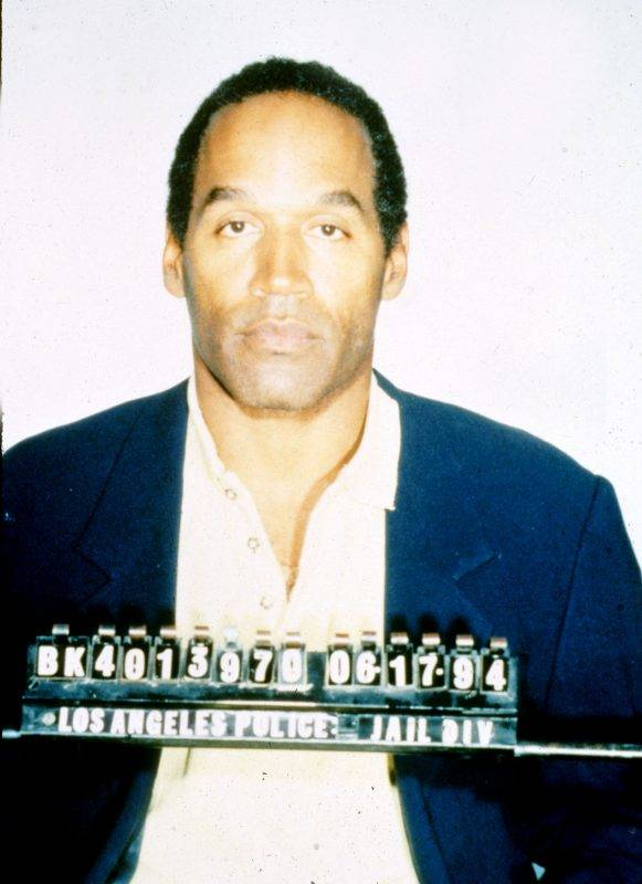 O.J. Simpson Mug Shot at the Los Angeles in Los Angeles, California (Photo by Los Angeles Police via WireImage)