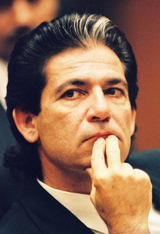 Robert Kardashian, a  close friend of O.J. Simpson, is shown during a preliminary hearing following the murders of Simpson's ex-wife Nicole Brown Simpson and her friend Ronald Goldman July 7, 1994 in Los Angeles. (Photo by Lee Celano/WireImage)