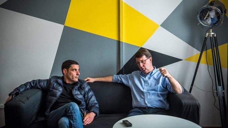 Földes Ádám, a Class FM vezérigazgatója (balra) és a rádió tulajdonosa, Michael McNutt Fotó:Class FM/Vadnai Szabolcs