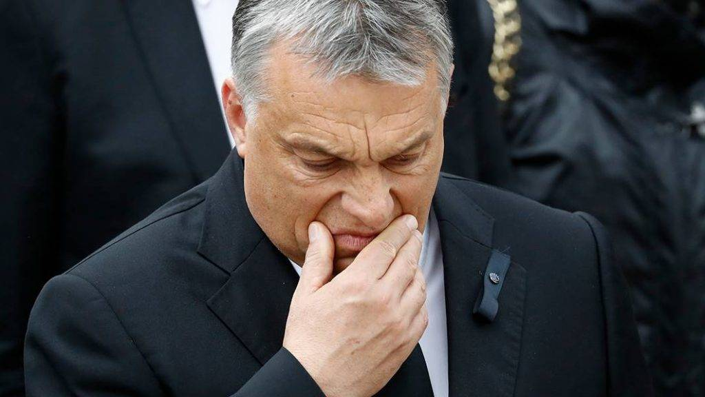 Hungarian Prime Minister Viktor Orban arrives for a memorial service for late former Chancellor Helmut Kohl on July 1, 2017 at the cathedral in Speyer. Helmut Kohl, the former German chancellor who seized the chance to reunite his country after years of Cold War separation, died at the age of 87 on June 16, 2017. / AFP PHOTO / Odd ANDERSEN