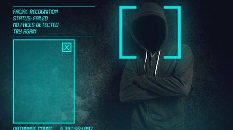 Facial recognition failed at biometric verification, hooded criminal hacked software and managed to stay unrecognized.