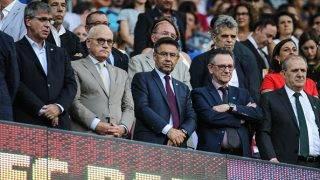 August 7th 2017, Camp Nou, Barcelona, Spain; 2017 Joan Gamper Trophy; FC Barcelona versus Chapecoense; Bartomeu FCB President;  (Photo by Pedro Salado/Action Plus via Getty Images)