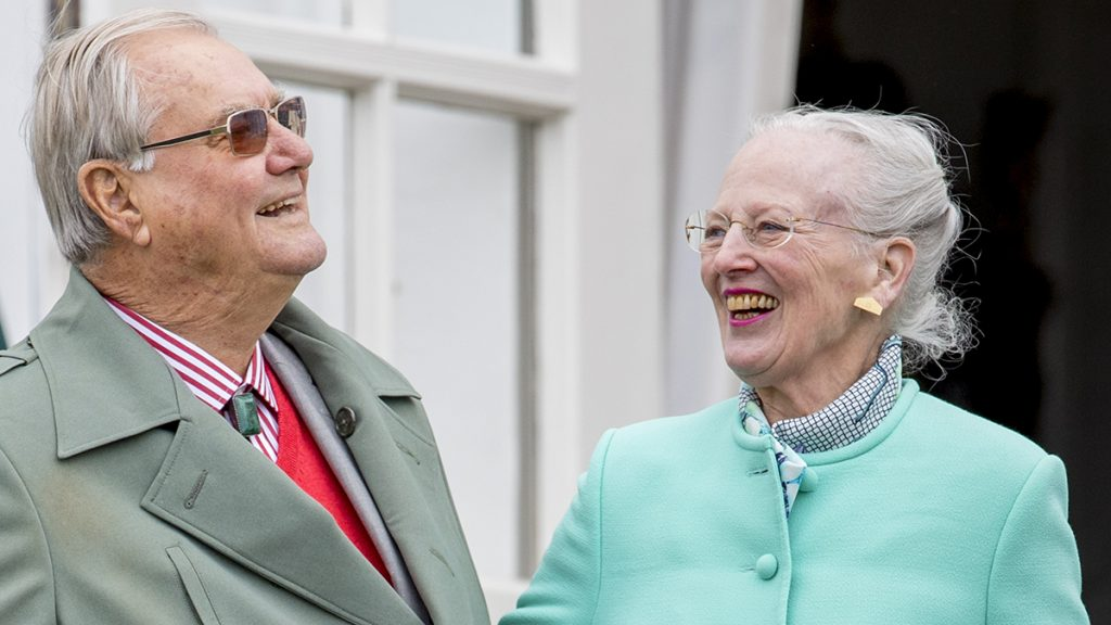 Queen Margrethe and Prince Henrik of Denmark attend the 77th birthday celebrations of Queen Margrethe at Marselisborg palace in Aarhus, Denmark, 16 April 2017. Photo: Patrick van Katwijk NETHERLANDS OUT POINT DE VUE OUT - NO WIRE SERVICE · Photo: Patrick van Katwijk/Dutch Photo Press/dpa