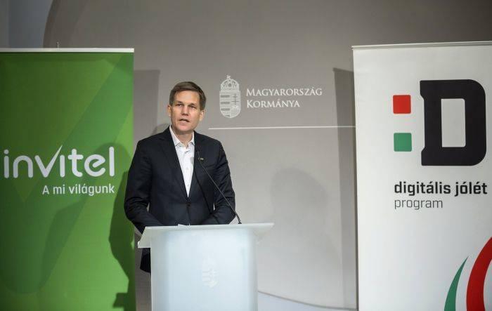 Budapest, 2017. augusztus 22.David Blunck, az Invitel csoport vezérigazgatója beszél az Invitel és a Digitális Jólét Program sajtótájékoztatóján az Igazságügyi Minisztériumban 2017. augusztus 22-én. Az Invitel  telekommunikációs szolgáltató kínálatában is megjelenik a kedvező árú Digitális Jólét Alapcsomag; a védjegy használatáról ezen a napon írtak alá megállapodást.MTI Fotó: Mohai Balázs