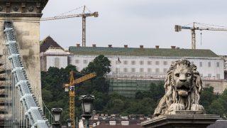 Budapest, 2017. május 2. A leendõ Miniszterelnökség, az egykori karmelita kolostor felújítás alatt álló épülete a budai Várban 2017. május 2-án. MTI Fotó: Szigetváry Zsolt