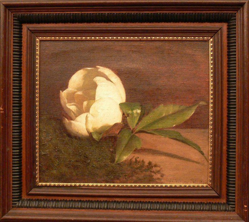 New York, 2009. január 24. Szinyei Merse Pál: Fehér Magnolia (1866)) címû alkotása azon a kiállításon, amely a New York-i Forbes Galériában nyílt Nancy Goodman Brinker volt budapesti amerikai nagykövet képzõmûvészeti magángyûjteményébõl. MTI Fotó: reprodukció